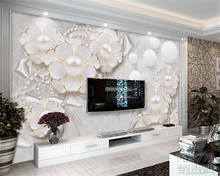 Beibehang  wallpaper for walls 3 d Europe and the United States clear large relief flower TV room living  background wallpaper