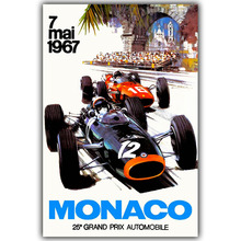 Motor Racing Nostalgia Poster Custom Home Decoration Fashion Silk Canvas Fabric Wall Poster Car Design Wallpaper YL051