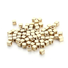 200piece/bag 3mm/4mm/5mm Rhodium Gold CCB Plastic Square Seeds Beads Big Hole Diy Charm Spacer Beads For Jewelry Making F3296(China)