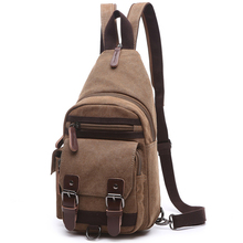 Vintage Men Backpack Fashion Body Messenger Cross Bag Bicycle Man Canvas Shoulder Backpack Sling Chest Single Rucksack Knapsack(China)
