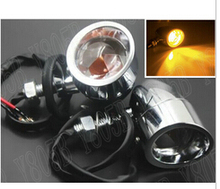 Chrome Turn Signal Light For Harley Davidson Sportster XL883 XL1200 Dyna Wide Glide Custom Chopper Cruisers Motorcycle