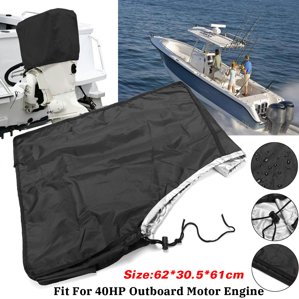 Vehicle Parts & Accessories Waterproof Outboard Motor 10-45 HP Boat Engine Protector Cover Boats Parts & Accessories