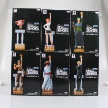 6pcs/lot One Piece Figure Ver. PVC Action Figure The Memory of Alabasta Monkey D Luffy Zoro Nami Sanji Chopper toy For Christmas