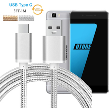 3FT Premium Aluminum Nylon USB Type C Fast Charger Cable Zopo Speed 8 / UMI Super / Ulefone Future Data Sync Charging Cable