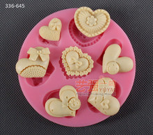 2014 new product free shipping usa heart silicone mold 3d silicone cake cooking tools fondant cake decorating tools