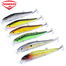"6pc New design Painting Fishing lure 4.7""-11.94cm/14.47g-0.51oz Minnow Lures 6 color Crankbait DW403"