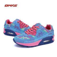 2017 New Arrival Women Walking Sneakers 3 Colors Easy Match Breathable Freely Increase Large Base Shoes Discount Products(China)