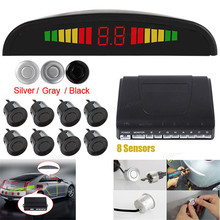 LIGHTHEART Car Led Parking Sensor 5 Colors Parktronic Display 8 Sensors Reverse Assistance Radar Monitor Parking System