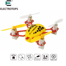 ET NANO Mini Drone 2.4G RC Toys 4CH 6Axis RC Quadcopter RC Pocket Helicopters 30km/h speed one key return Kids RC Toys VS FQ777