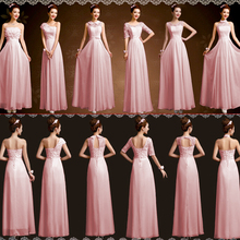 ladies summer bridesmaid dress long chiffon floor length ladies dinner a line dresses wear wedding guest free shipping B2843