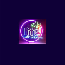 "17*14"" MILLER LATE christmas NEON SIGN Signboard REAL GLASS BEER BAR PUB Billiards store display Restaurant Shop Signs Bulb(China)"