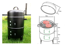 high quality smoked furnace, charcoal BBQ  grill,outdoor bbq grill,outdoor smoked grill