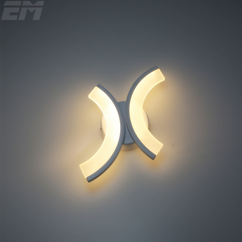 Half-moons Led Wall Lamps Aluminum Acrylic 90~260v 12W Bedside Reading Lamp Bedroom Wall Light Stair Sconces GWL042<br>