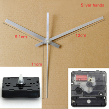Rhythm Silent Movement Plastic quartz clock movement sweep mechanism with Silver hands DIY Clock Accessory Kits