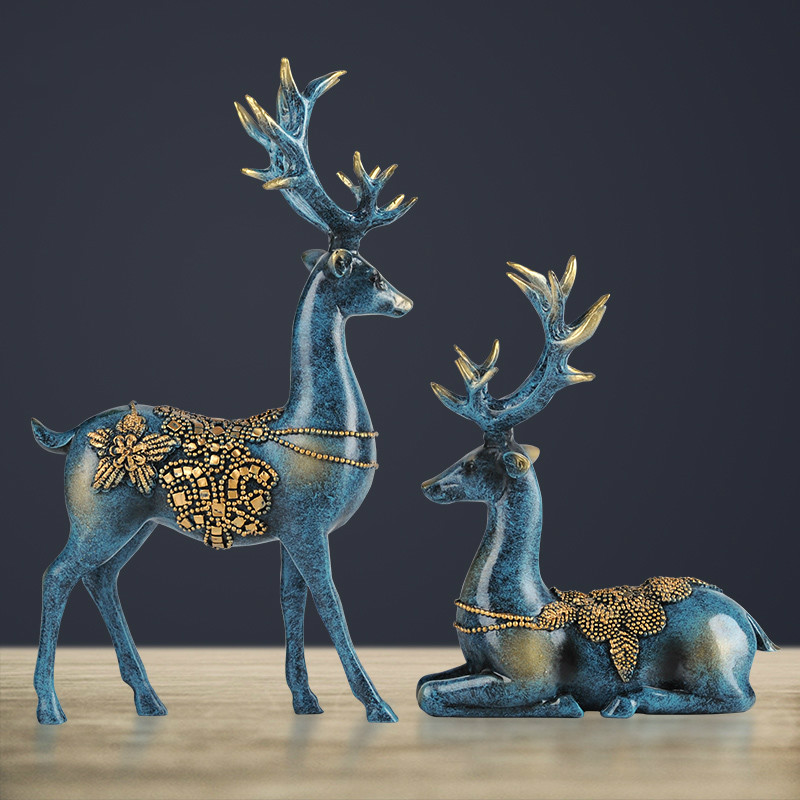 european Style Bedroom Living Room Decor Deer Wine Ornaments Home Furnishing Creative Wedding Gift Practical(China (Mainland))