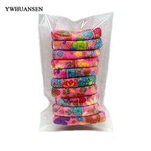 YWHUANSEN Wholesale 50 Pieces High quality women hair accessories for girls Nylon Gum ties Elastic hair bands scrunchies