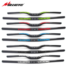 Ullicyc colorful Full Carbon Fiber MTB/Mountain Bicycle Straight Flat/Bend Riser Handlebar Carbon Bike Part 31.8*600-740 Glossy(China)