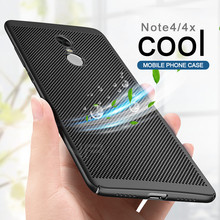 ZNP Heat dissipation phone hard Back PC Cases For Xiaomi Redmi Note 4x 4 Pro Full Cover Case Note 4 Global Version Protect shell