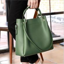 new 2017 Genuine Leather women bag Handbags contracted Fashion trend Crossbody Bags large capacity Casual women messenger bags
