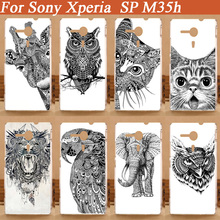 painting colored Cases FOR SONY Xperia SP Case Cover diy white black animals Case FOR SONY Xperia SP M35h M35C C5303 Case Cover