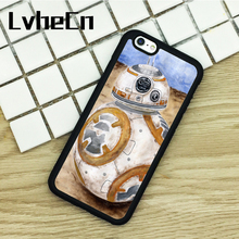 LvheCn TPU Phone Cases For iPhone 6 6S 7 8 Plus X 5 5S 5C SE 4 4S ipod touch 4 5 6 Cover BB8 Star Wars Painted Art Amazing Droid(China)