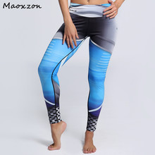Buy Maoxzon Womens Digital Print Sexy Fitness Workout Slim Pants Female Fashion Gymnasium Active Skinny Elastic Leggings 3XL for $14.93 in AliExpress store