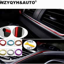 Buy 5M Car Styling Brand Stickers Decals Interior Decorative 3D Thread Stickers Decoration Strip Car-Styling Auto Accessories for $2.80 in AliExpress store