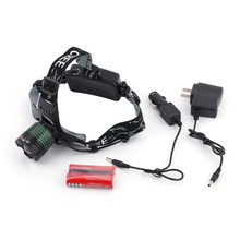 Practical T6 Led Headlamp Headlight Flashlight + 2X18650 Battery + Charger Waterproof Great For Outdoor Activities(China)