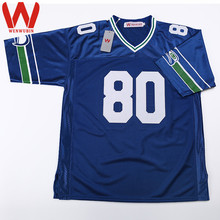 WENWUBIN Mens #80 Steve Largent Embroidered Throwback Football Jersey