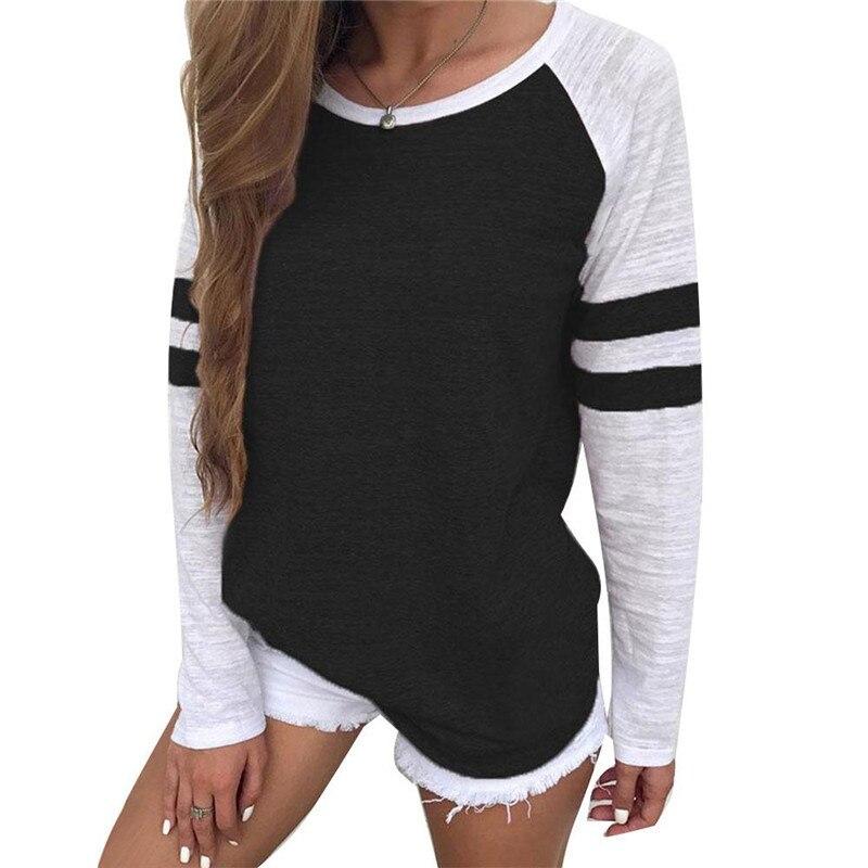 Striped-Splicing-Baseball-T-Shirt-Women-T-Shirt-Full-Long-Raglan-Sleeve-Splicing-Tees-Solid-O (2)