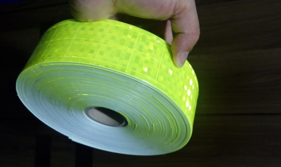 50M/roll Warterproof Reflective crystal lattice PVC tapes Road Traffic Safety Clothing Working Vest Warning Reflective Strip<br>