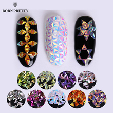 0.7g Unicorn AB Color Nail Sequins Chameleon Triangle Iridescent Flakies 9 Colors 3D Nail Art Decoration Manicure Tips(China)