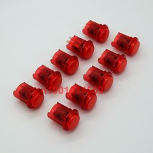 New Reyann 10Pcs/lot 24mm Arcade LED Buttons Illuminated Buttons Arcade Push Button For Arcade FightStick Tournament Game - Red(China)