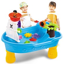 Corsair Pirate Ship Sand and Water Table Kids Children Outdoor Party Beach Toys Set(China)