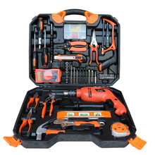 Buy 120Pcs Electrician Woodworking Hand Tool Set Box Impact Drill Multimeter Screwdriver Hammer Pliers Saw Household repair Tool Kit for $46.96 in AliExpress store