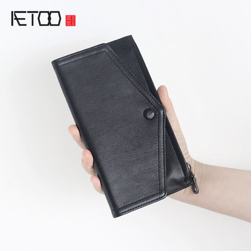 AETOO New first layer of leather envelope wallet Korean version of the ultra-thin section of the leather wallet planted Vintage<br>