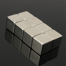 40pcs 10 X 10 x 10mm Rare Earth Cube Block N50 Neodymium Super Strong Fridge Magnet Fit to applied to many Fields DIY
