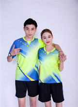 Genuine New men badminton shirts,women tennis jersey,ping pong jersey short sleeves, polyester quickly-dry table tennis t-shirts
