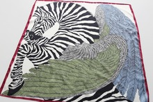 Bandana Multifunctional Zebra Print Women Scarf Scarves Luxury Brand Headband Hairband 70*70cm