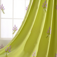 [Provence] Korean Japanese Garden cotton embroidery products Lavender curtains for bedroom and living room