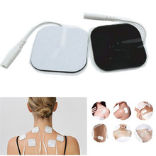 10pcs/lot 5*5CM 2MM pin Electrode Pads Tens Electrodes for Tens Digital Therapy Machine Massager Electro Nerve Stimulator(China)