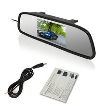 4.3'' HD rear view mirror car Rearview DVD Mirror Monitor screen for Car reversing Parking assistance car Monitor 2 Video input