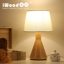 American country style Nordic wood creative fashion minimalist bedroom study lamp bedside lamp Canadian beech free shipping(China)