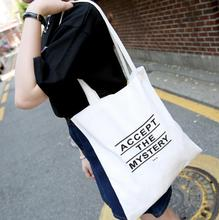 White Shopping Bags Cotton Tote Handmade Pure Cotton Shopping School Books Trip Bag Women Shoulder Bag Shopping Cart Eco bag(China)