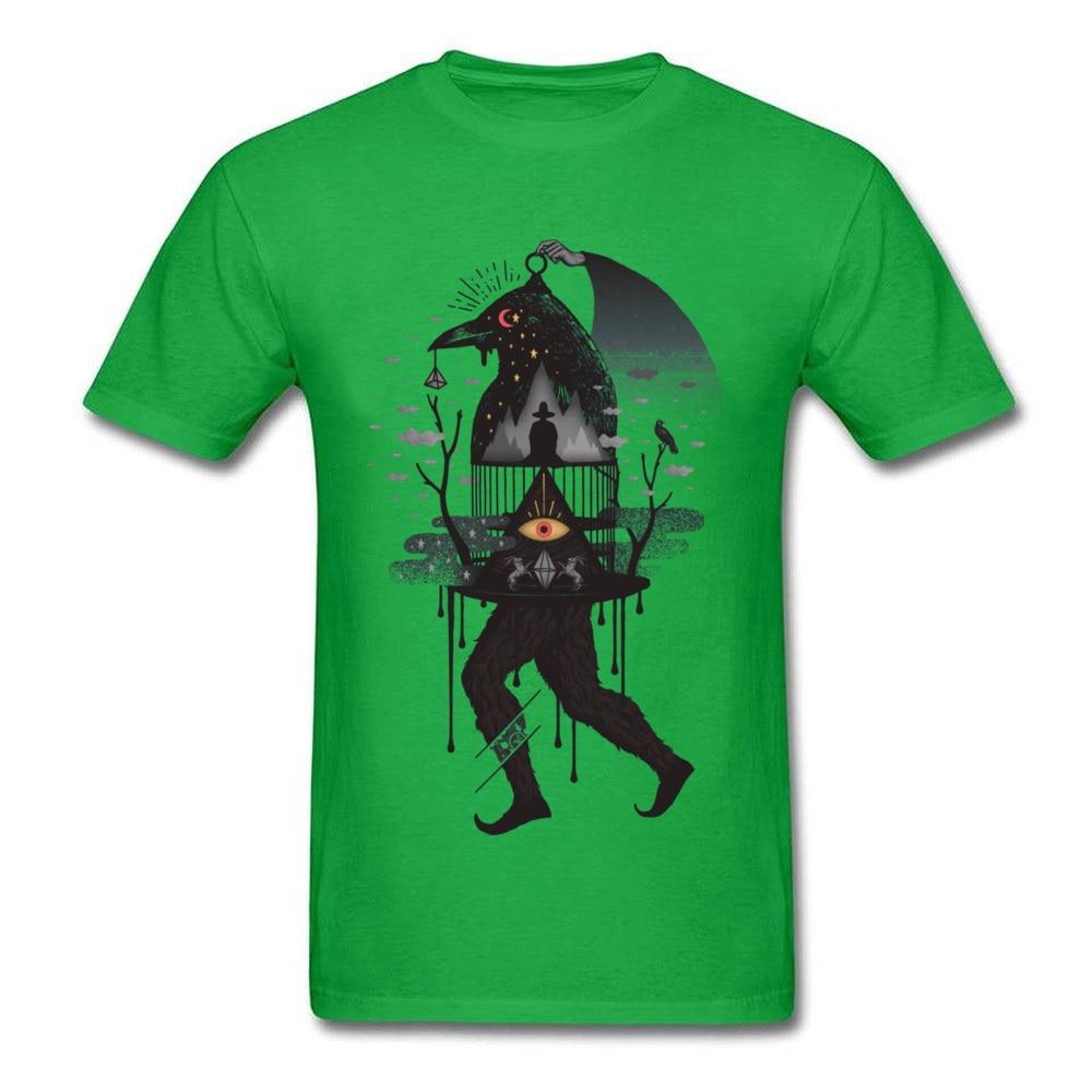 Party Prisoners 2697 T-Shirt for Men 2018 Fashion April FOOL DAY Crewneck Cotton Fabric Short Sleeve T-Shirt Top T-shirts Prisoners 2697 green