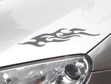 1 Pair, 29CM Flame style,Car Engine Cover sticker, bonnet lamp eyebrow sticker,Flame Car styling,Free shipping
