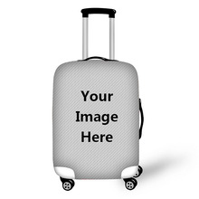 Luggage case can be customized free pattern   travel protective cover