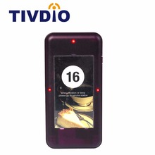 TIVDIO 433MHz Call Coaster Pager Receiver for Wireless Paging Queuing System Waiter Calling System F4420A(China)
