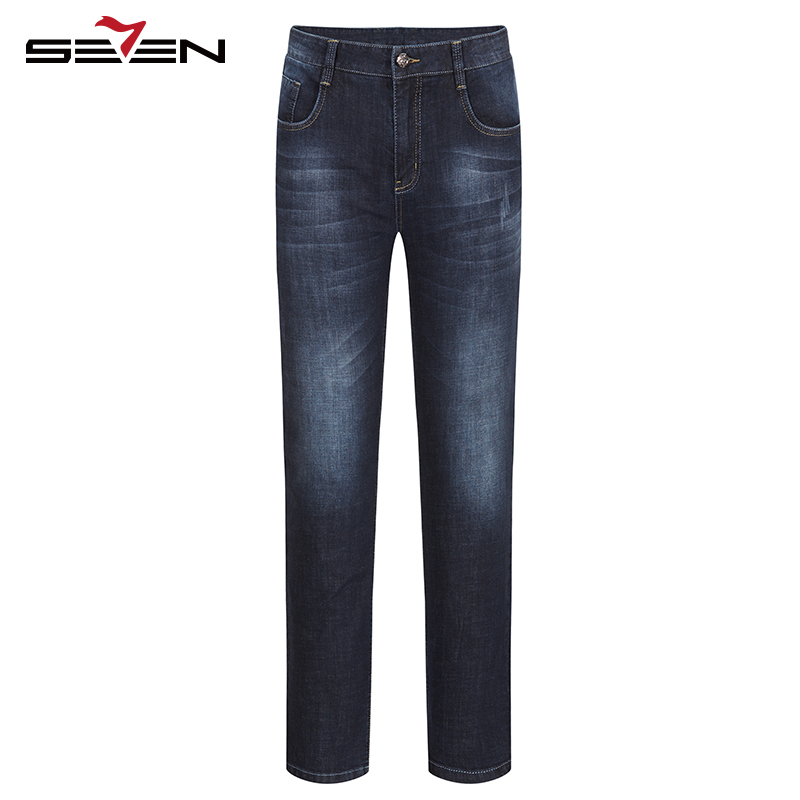 Seven7 Brand Spring summer 2017 New Business Casual Fashion Young All-match Denim Trousers Straight Slim Casual Jeans 112S80370Одежда и ак�е��уары<br><br><br>Aliexpress