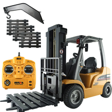 Remote Control truck 1:20 Alloy  Forklift truck 8 channel 4WD Engineer Vehicle USB Charging for Child Gift without ratail box